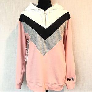 •Victoria's Secret PINK• Half Zip Hoodie XS
